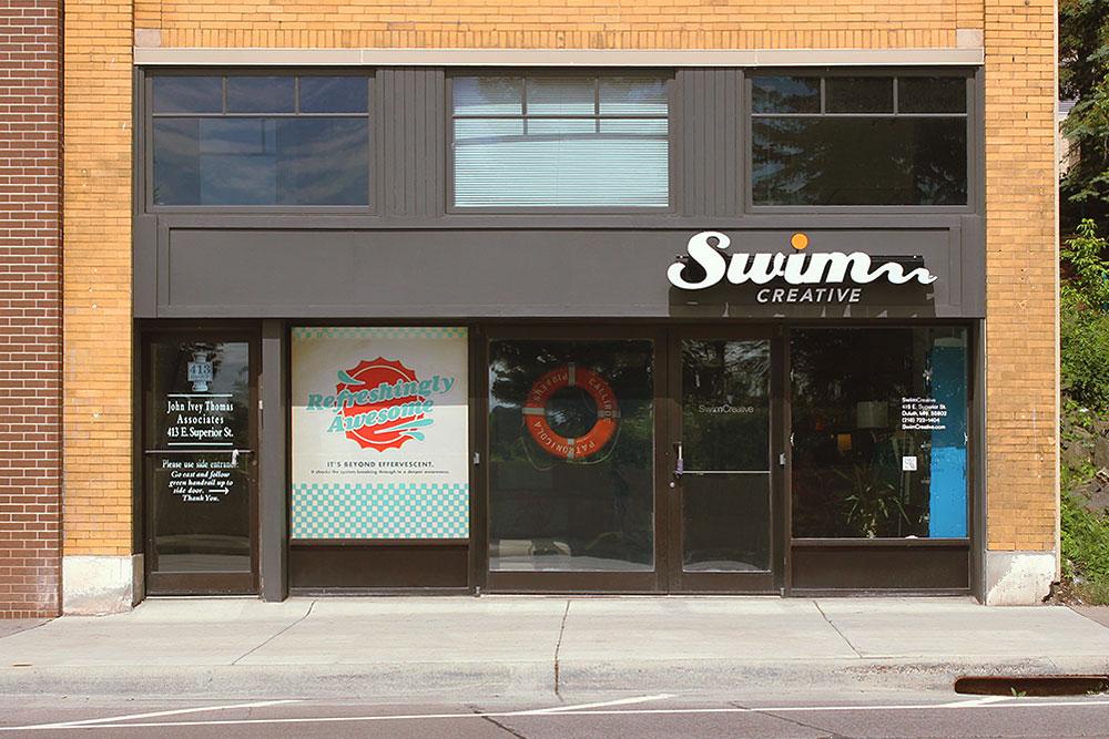 Swim Creative front