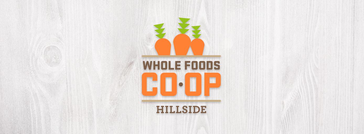 whole foods logo on wood background