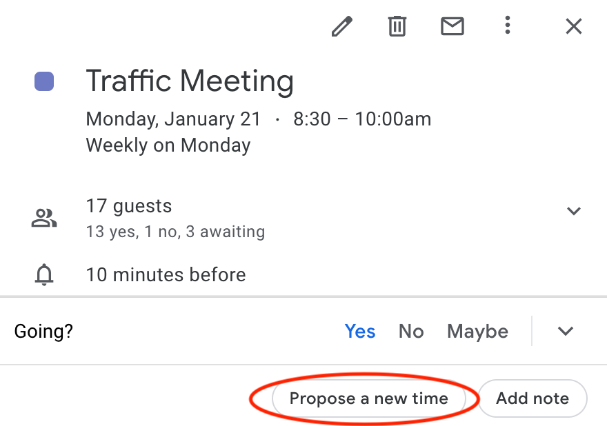 gmail propose a new time