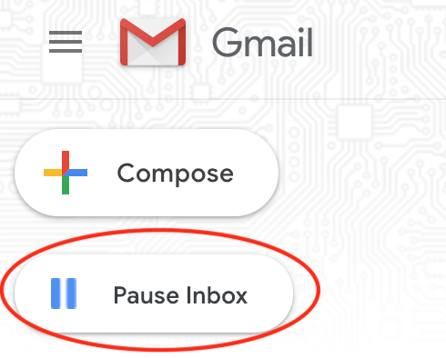 gmail pause your inbox