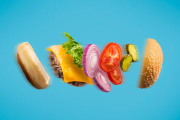 where creativity comes from - blog - swim creative - flying cheese hamburger