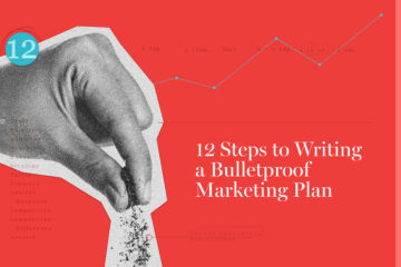 12 steps to writing a marketing plan blog graphic
