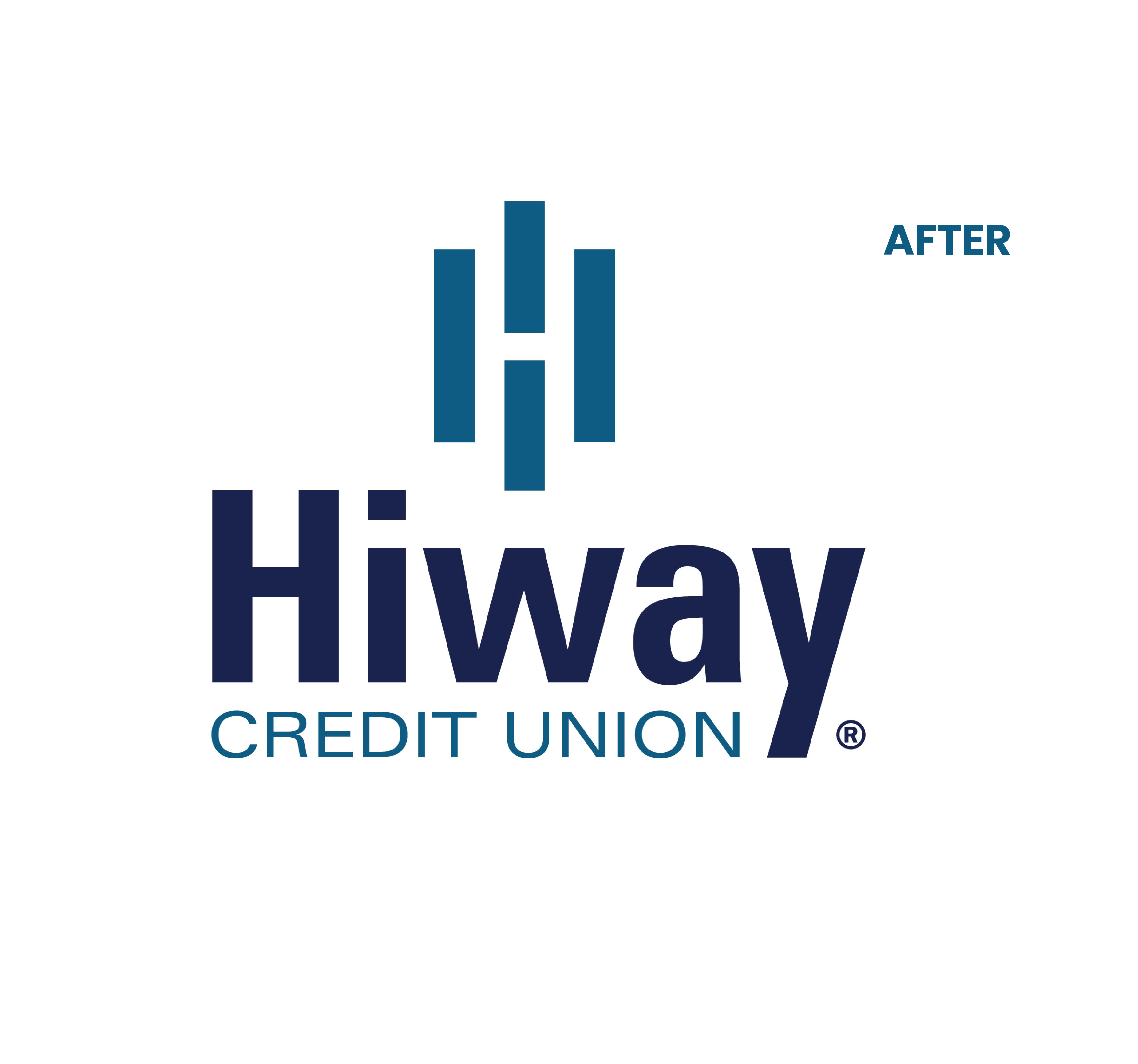 hiway logo before and after