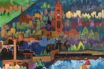 hillside dream acrylic painting
